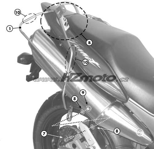 Honda CB 600F Hornet/S (98-06) - podpěry bočních brašen Givi T21