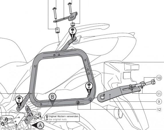 Honda CBF 1000 (06-) - boční nosič EVO SW-Motech