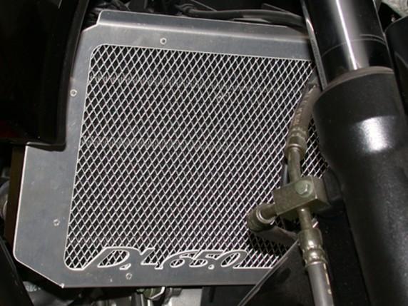 Suzuki DL 650 V-Strom (04-10) - mřížka chladiče SW-Motech stříbr