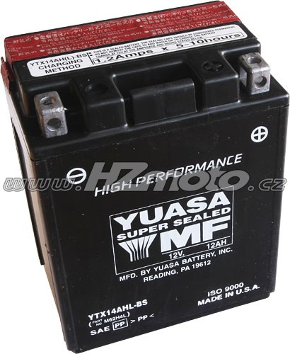 Motobaterie Yuasa YTX14AHL-BS 12V 12Ah