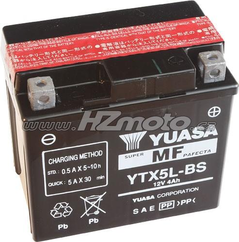 Motobaterie Yuasa YTX5L-BS 12V 4Ah