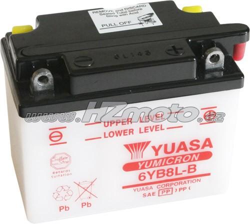 Motobaterie Yuasa 6YB8L-B 6V 8Ah