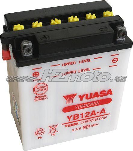 Motobaterie Yuasa YB12A-A 12V 12Ah