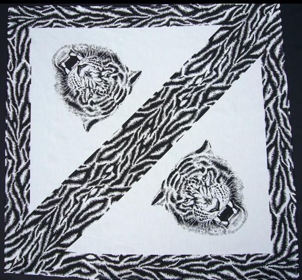 Bavlněný šátek - Tygr BW