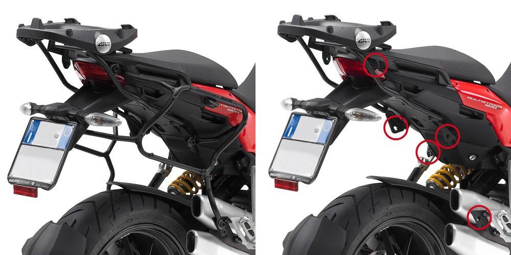 Ducati Multistrada 1200 (10-14) - nosič bočních kufrů V35, Givi