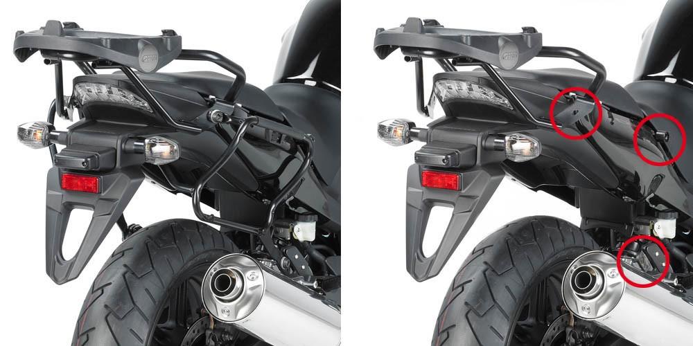 Honda CBF 1000 / 1000 ST (10-14) - boční nosič kufrů V35 Givi PL