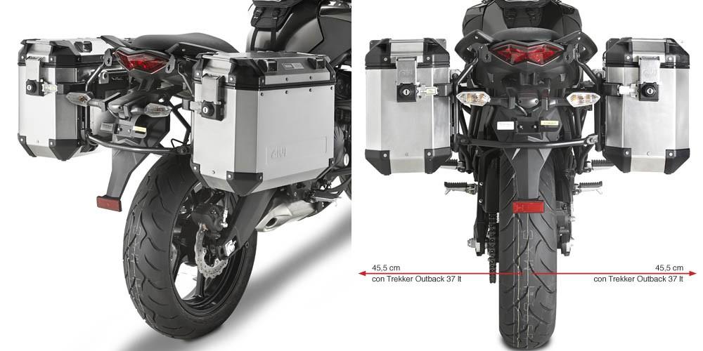 Kawasaki Versys 650 (10-) trubkový držák bočních kufrů Trekker O