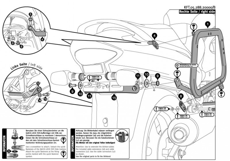 Suzuki GSX 750 F (03-06) - boční nosič EVO SW-Motech