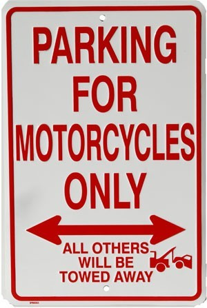 Motorcycles Parking Only - SP80003