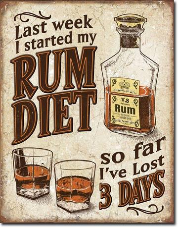 Rum Diet - plechová retro cedule 40x32 cm