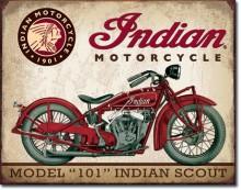 Indian Scout - plechová cedule, 40x32 cm