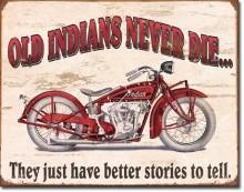 Indian Better Stories - plechová cedule, 40x32 cm