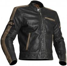 Halvarssons Seventy kožená motocyklová bunda Black/Khaki