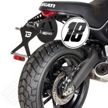 "Ducati 800 Scrambler (15-) - sklopný držák SPZ ""STREET"" Barracuda"