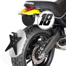 Ducati 800 Scrambler (15-) - hliníkový blatník Barracuda
