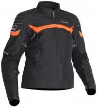 Lindstrands Che Lady - dámská textilní bunda, černá / oranžová