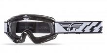 Brýle Focus 2019, Fly Racing - USA (černé, čiré plexi bez čepů pro slídy)