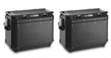 2× hliníkový kufr 48 l. Givi Trekker Outback OBKN48BPACK2 černé provedení