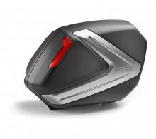 Boční kufry Givi V37N (pár) - černo stříbrné víko, červené odrazky
