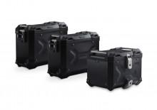 Adventure set hliníkových kufrů TRAX ADV černé provedení BMW F 750/850 GS (18-) - nerez
