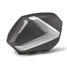 Boční kufry Givi V37NT (pár) - černo stříbrné víko, čiré odrazky