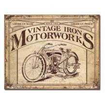 Vintage Iron Motorworks - plechová retro cedule 40x32 cm
