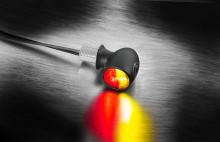 Miniblinkr / zadní světlo Atto® DF Kellermann - černé tělo, čiré sklo