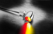 Miniblinkr / zadní světlo Atto® DF Kellermann - chromované tělo, čiré sklo