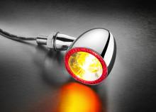 Blinkr / zadní světlo Bullet 1000® DF Kellermann - chromované tělo, čiré sklo