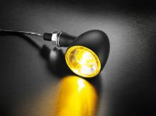 Blinkr / poziční světlo žluté Bullet 1000® PL Kellermann - černé tělo, čiré sklo