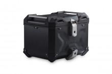 Hliníkový kufr TraX ® Adventure 38 litrů - černý horní kufr