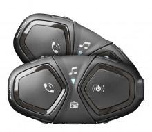 CellularLine Interphone ACTIVE, Twin Pack Bluetooth handsfree pro uzavřené a otevřené přilby