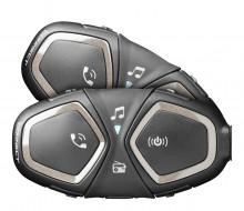 CellularLine Interphone CONNECT, Twin Pack Bluetooth handsfree pro uzavřené a otevřené přilby