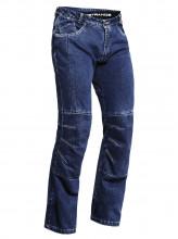 Lindstrands Wrap 50 - vel. M - vyztužené motocyklové jeansy modré