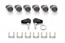 Zámky pro hliníkové kufry TRAX, 6 ks + 2 ks klíčů