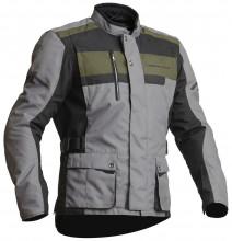 Lindstrands HAMAR - Black/Fog pánská textilní motocyklová bunda