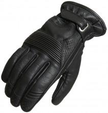 Lindstrands LAUDER Black letní motocyklové rukavice