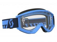 Brýle Recoil XI Works, Scott (modré, čiré plexi s čepy pro slídy)
