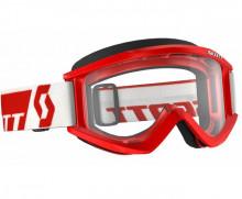 Brýle Recoil XI Works, Scott (červené, čiré plexi s čepy pro slídy)