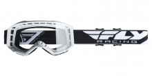 Brýle Focus 2019, Fly Racing - USA (bílé, čiré plexi bez čepů pro slídy)