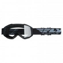 Dětské brýle Youth Focus, Fly Racing - USA (černé, čiré plexi bez čepů pro slídy)