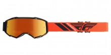 Brýle Zone 2019, Fly Racing - USA (černé/oranžové, oranžové chrom plexi)