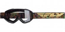 Brýle Focus 2020, Fly Racing - USA (černé/camo, čiré plexi bez pinů)