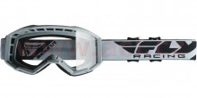 Brýle Focus 2020, Fly Racing - USA (šedé, čiré plexi bez pinů)