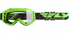 Brýle Focus 2020, Fly Racing - USA (zelené, čiré plexi bez pinů)