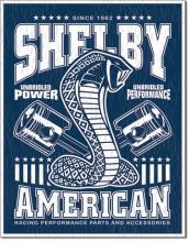 Shelby - Unbridled - plechová retro cedule 40x32 cm