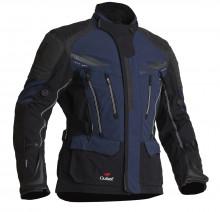Halvarssons Mora Black/blue - pánská textilní motocyklová bunda
