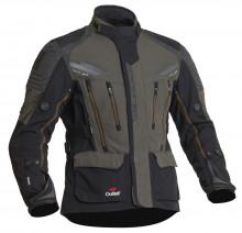 Halvarssons Mora Black/grey - pánská textilní motocyklová bunda