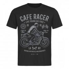 Pánské tričko Cafe Racer 1961 černé