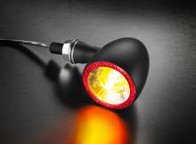 Blinkr / zadní světlo Bullet 1000® DF Kellermann - černé tělo, čiré sklo